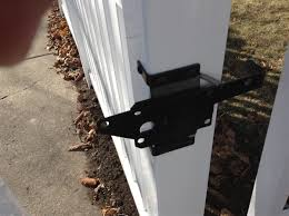 vinyl fence with metal gate. WHITE Standard Vinyl Gate Latch Fence With Metal