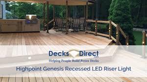 Highpoint Deck Lighting Genesis Recessed Led Riser Light By Highpoint Deck Lighting