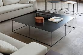 zeus square coffee table slim irony low