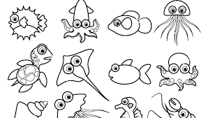 Animals Coloring Sheet Sea Animals Coloring Pages Ocean Animals G