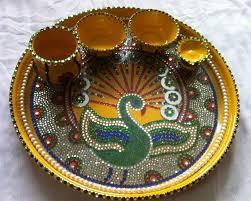 aarti thali decoration ideas for janmashtami pooja thali