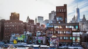 New York City Urban Layers Graffiti Wallpaper Download Free Hd 4k