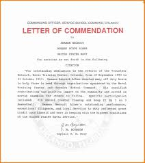 Commendation Letter Template 8 Employee Commendation Sample This Is Charlietrotter