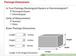 usps package size limitations how to calculate u s postage rates online 13 steps
