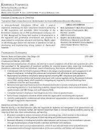 Compliance Officer Resume Sample Resume Sample