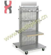 Steel Stands For Display Double Sided Metal Shop Display Standflooring Gridwall Display 38