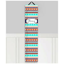 Toad And Lily Growth Chart Tribal Personalized Growth Chart