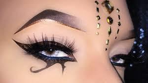 bronze egyptian dess eyeliner arabic inspired makeup tutorial المكياج العربي you