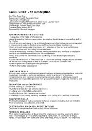 sous chef job description for resume com sous chef job description pdf