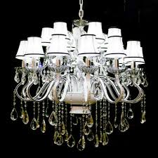 contemporary white crystal chandelier