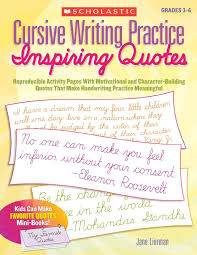 Cursive Writing Practice Inspiring Quotes Reproducible Activity
