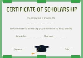 Scholarship Certificate Template For Word Scholarship Certificate Template 11 Professional Templates