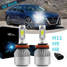 Details About 2x H9 Led Headlight Bulb High Beam 6000k White S2 For Nissan Altima 2007 2019