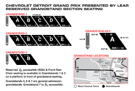 Detroit Grand Prix Seating Chart Chevrolet Detroit Grand Prix Presented By Lear May 31