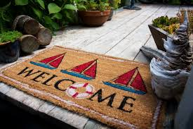 NAUTICAL WELCOME MAT | COCO MATS | COIR MATS | Coco Mats N' More