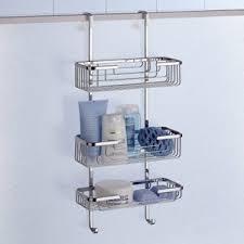 Gedy 5684 Door Triple Shower Basket, Chrome