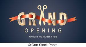Nonstandard Or Design Banner Element For Opening Backdrop Red Vector Scissors Grand Ceremony Ribbon Background And