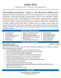 Security Clearance Resumes Security Agent Resume Example Special Agent