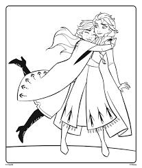 You've come to the right place! Anna And Elsa From Disney Frozen 2 Hugging Coloring Page Crayola Com