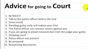 What To Say At Traffic Court
