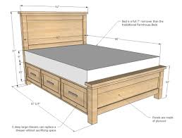 farmhouse bed plans for a small e this bed packs lots of storage in a more pact profile detailed step by step plans to help you build your own diy