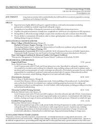 registered nurse sample resumes staff nurse resume example