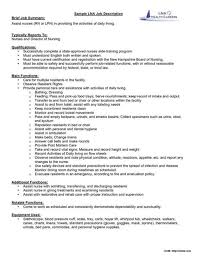 Sample Resume With Job Description Of Staff Nurse