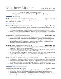 Bunch Ideas Of Resume For Internships Cute Real Software Engineering