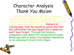 making inferences  statement 42 character analysis thank you ma am