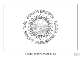 Small Picture South Dakota State Flag coloring page Free Printable Coloring Pages