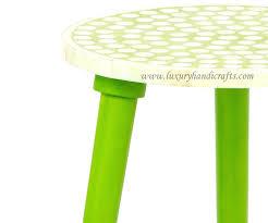 side tables green side table luxury handicrafts bone inlay polka dot lime handicraft big egg