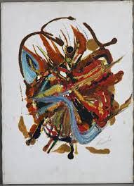 """HELGA MACK. """"Gate (Malta)"""", akryl / tapeter på hårddisk, 2002. Konst -  Måleri - Auctionet"""