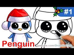 cute christmas penguin drawing. Modren Christmas How To Draw Beanie Boo Penguin Easy Step By Christmas Special  YouTube On Cute Drawing O