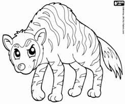 Kleurplaat Hyena Kleurplaten