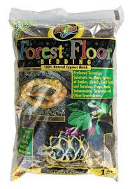 zoo med s forest floor is a natural cypress mulch substrate it provides your terrarium with a natural forest floor look while retaining moisture to