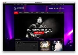 Music Website Templates Inspiration Music Festival Website Template 28 Best Responsive 28 Music