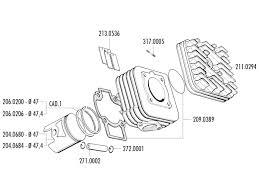 Cylinder head polini 70cc 47mm for piaggio ac