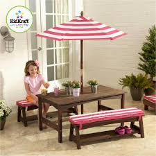 kidkraft outdoor furniture amazing kidkraft outdoor table bench set with umbrella turquoise