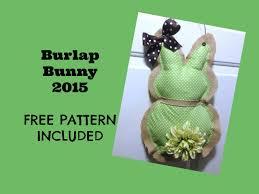 Burlap Bunny Door Hanging 2015 - YouTube
