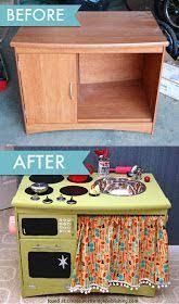 renovate furniture. Renovate Old Furniture. Diy Recycled Furniture - Play Kitchen. D