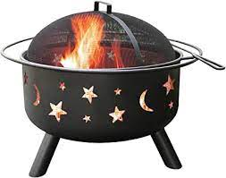 Amazon Com Landmann 28345 Big Sky Stars And Moons Firepit Black Fire Pits Garden Outdoor