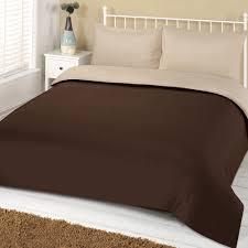 ords plain duvet cover set chocolate cream