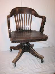bankers chair vintage heavy wood from 1930 or office desk