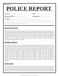 Blank Police Report Template Download Meaning In Filename Google