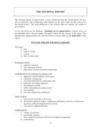 Report Format Sample Writing Template 264010603816 Formal Report