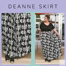 Deanne Skirt Size Chart Introducing The New Lularoe Deanne Skirt Www