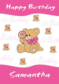 Birthday Cards Design For Kids Personalised 1st Birthday Card Design 7
