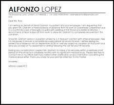 Cover Letter Medical Absence From Work Mockatoo Com