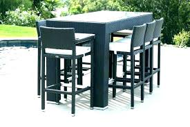 outdoor bar height bistro table and chairs patio furniture bar set outdoor bar height bistro table