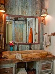 image creative rustic furniture. Furniture Creative Rustic Double Sink Vanities Using Wooden Wash Basin From Teak Log With A Image S